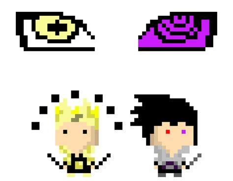 Naruto And Sasuke Pixel Art
