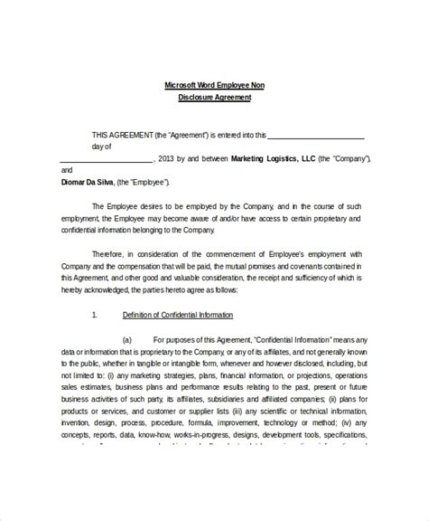 disclosure  confidentiality agreement
