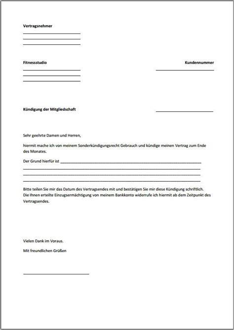Mietvertrag Nachmieter Muster by Vorlage Wohnungsk 252 Ndigung K 252 Ndigung Vorlage Fwptc