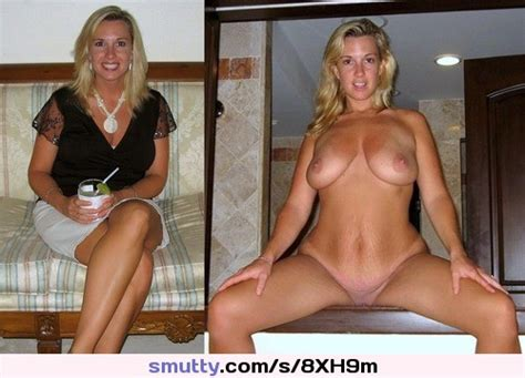 Before After Dressed Undressed Naked Nude Blonde
