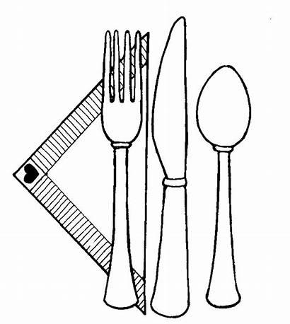 Clipart Utensils Setting Utensil Table Place Clip