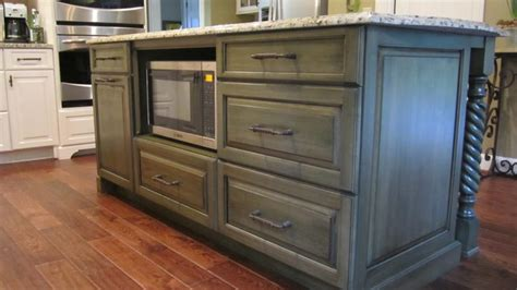 kitchen island with microwave island counter microwave