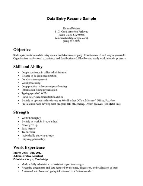 sle resume for cook position resume format