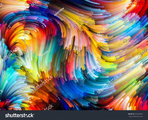 Dynamic Color Series Abstract Design Made Stock