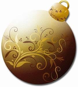 Clipart - Gold Glass Ornament 1