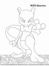 Mewtwo Coloring Pages Mega Template Colornimbus sketch template