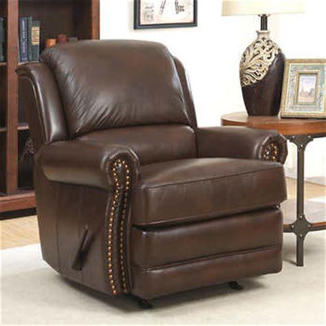 top grain leather rocker recliner