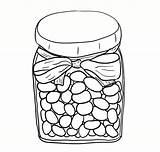 Coloring Jelly Clipart Jar Bean Beans Printable Snoepwinkeltje Nostalgisch Colouring Snoeppot Museum Clip Kid Blogo Jellybeans Hobby Afkomstig Library sketch template