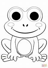 Frog Coloring Pages Cute Cartoon Frogs Baby Printable Print Sheets Drawing Paper Amphibian sketch template