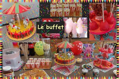 anniversaire theme fete foraine pour les enfants