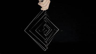 Sculpture Kinetic Square Wave Ivan Illusions Spinner