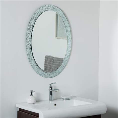 Best wall and floor mirrors on amazon (for all those mirror selfies). Decor Wonderland Jewel Oval Frameless Mirror - 31.5-in x 23.6-in SSM5039S1   Réno-Dépôt