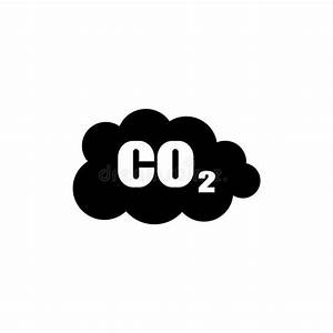 Co2 Emissions Icon Cloud Vector Flat Stock Vector ...