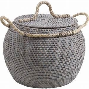 coffre de rangement jarre en rotin With nettoyage tapis avec canapé osier occasion