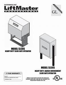 Liftmaster Sl585 Manual