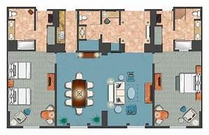 Room Diagram - 2-bedroom Villa Parlor Suite