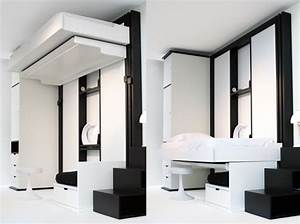 Lit Escamotable Plafond : des lits qui montent au plafond le journal de la maison ~ Premium-room.com Idées de Décoration