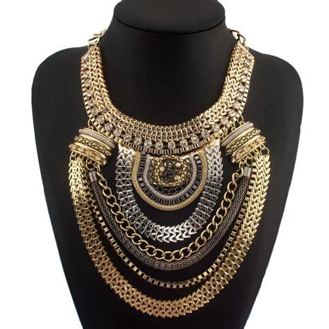 uken fashion exaggerated brand style ethnic women chokers
