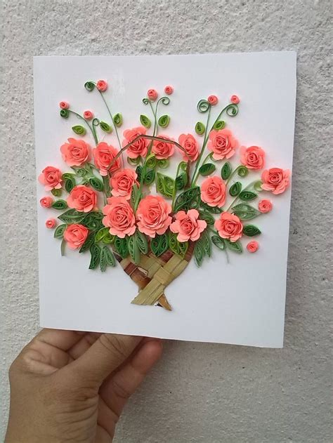 quilling paper craft ideas 325 best my paper quilling flower baskets greeting card 5306