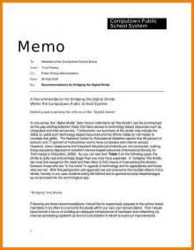 Example Memorandum Memo Template