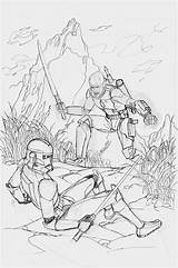 Clone Wars Coloring Printable Troopers Trooper Colouring Mike Detailed Zombies Plants Rex Captain Colors Amazing Visit Horse Hawthorne Colorings sketch template