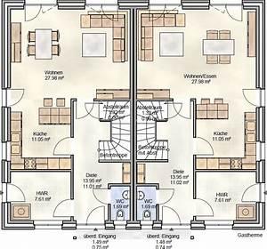 Doppelhaus Grundriss Beispiele : doppelhaus mit knapp 120 m grundriss blohm gmbh ~ Lizthompson.info Haus und Dekorationen