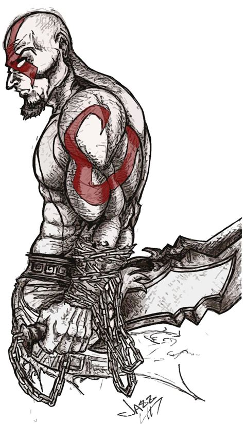 Kratos The God Of War By Thejazzyt On Deviantart