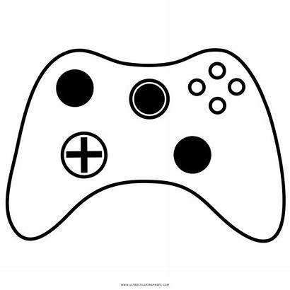 Controller Drawing Coloring Xbox Controllers Clipart Transparent