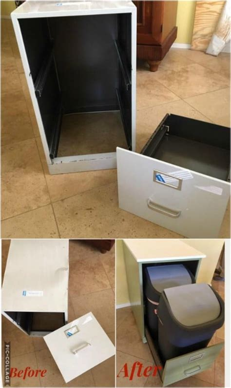 diy home recycling bins    organize