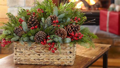 evergreen basket bouquet