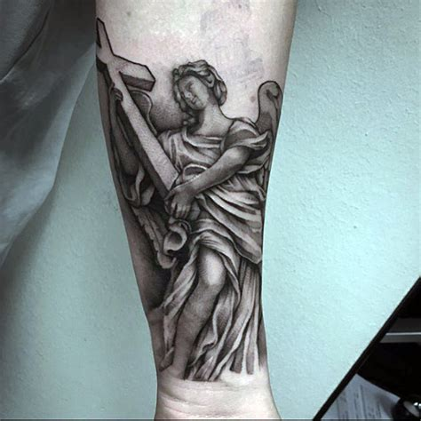 guardian angel tattoos  men spiritual ink designs