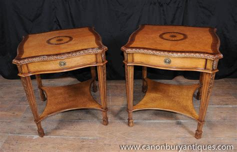 drinks tables and sofa pair george ii satinwood side tables occasional cocktail