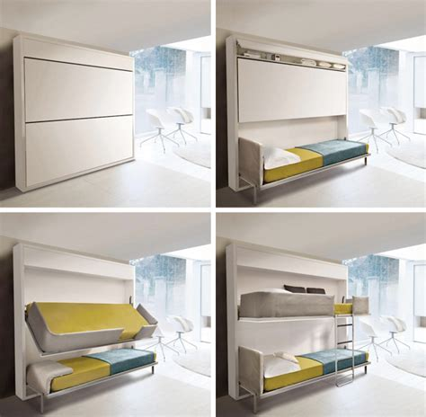 small bunk beds for small spaces small spaces urban lollisoft murphy bunk beds hiconsumption