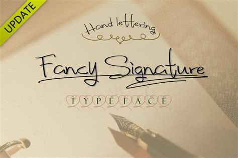 fancy signature font style