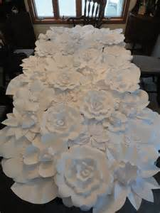 white paper flower wall 4ft x 8ft extra large paper flowers decoration photo backdrop prop on
