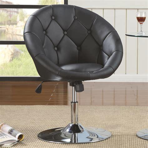 coaster 102580 black leather swivel chair a sofa