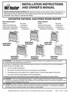 Mr  Heater Mhbf10ng Installation Instructions And Owner U0026 39 S