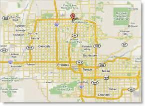 Arizona Map Phoenix AZ