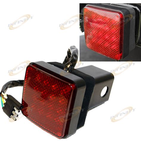 16 led brake light trailer hitch cover fit towing