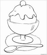 Ice Cream Pages Coloring Printable Coloringpagesonly sketch template