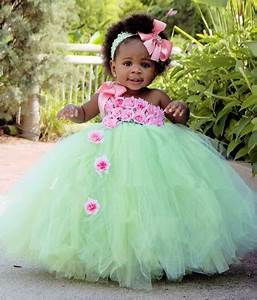 Baby Girl Easter Tutu Dress Mint Green with Pink Rose Girl ...