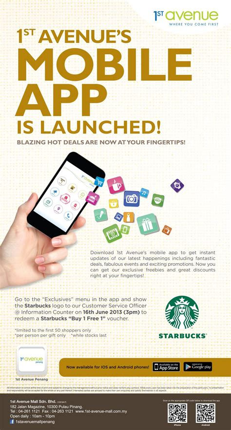mobile promotions 1st avenue penang launched its mobile app with awesome