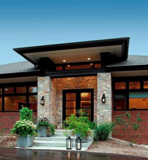 Prarie Style Homes by Prairie Style Home Contemporary Entry Detroit By