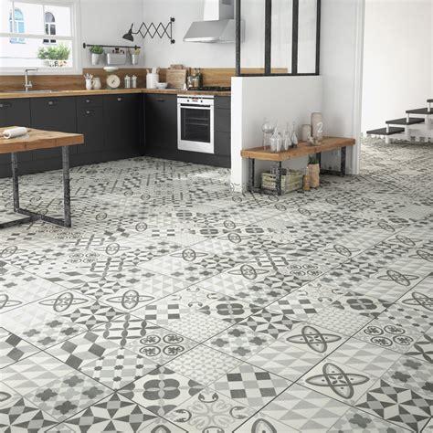 carrelage sol cuisine leroy merlin carrelage sol gris effet ciment ruban l 45 x l 45 cm