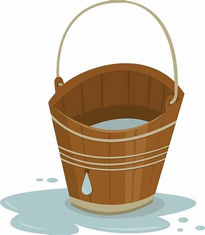 Bucket Vector Illustrations Clip Leaky Royalty Illustration