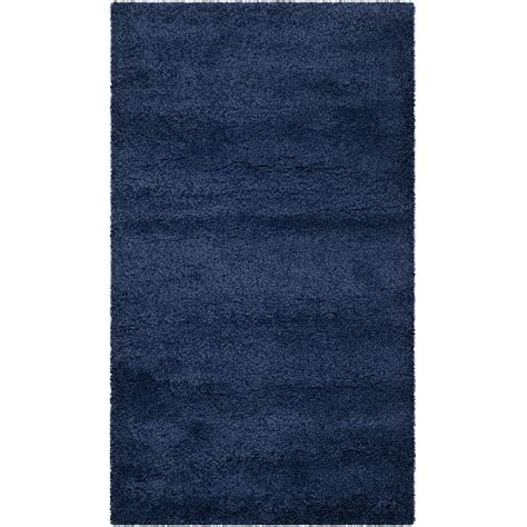 navy blue area rug safavieh milan shag navy blue area rug reviews wayfair