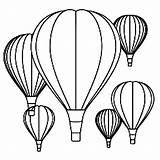 Balloon Coloring Gas Balloons Air Para Colorear Globos Dibujos Pages Drawings Children sketch template