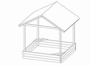 Dach Selber Bauen : sandkasten mit dach modell sophie 153 x 153 cm aus holz ~ Lizthompson.info Haus und Dekorationen