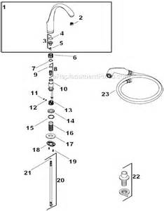 kohler forte kitchen faucet kohler k 10430 parts list and diagram ereplacementparts