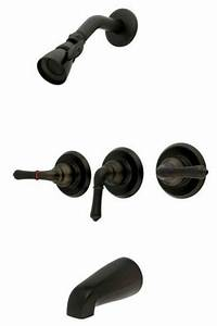 Oil Rubbed Bronze 3 Handle Combination Bathroom Tub